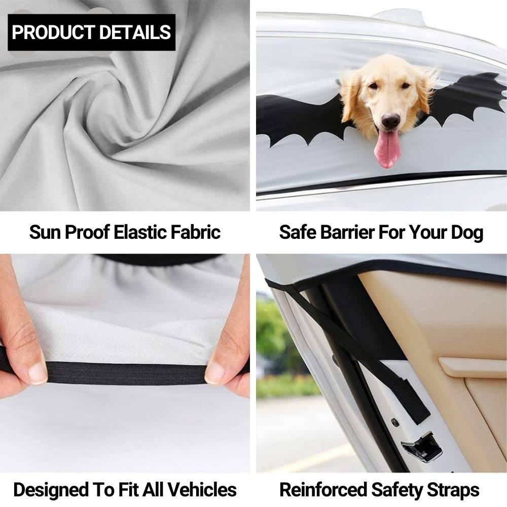 dog head out of car window safety device